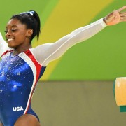 Aug 11, 2016; Rio de Janeiro, Brazil; Simone Biles (USA) competes on the balance beam during the women's individual all-around final in the Rio 2016 Summer Olympic Games at Rio Olympic Arena. Mandatory Credit: Robert Deutsch-USA TODAY Sports