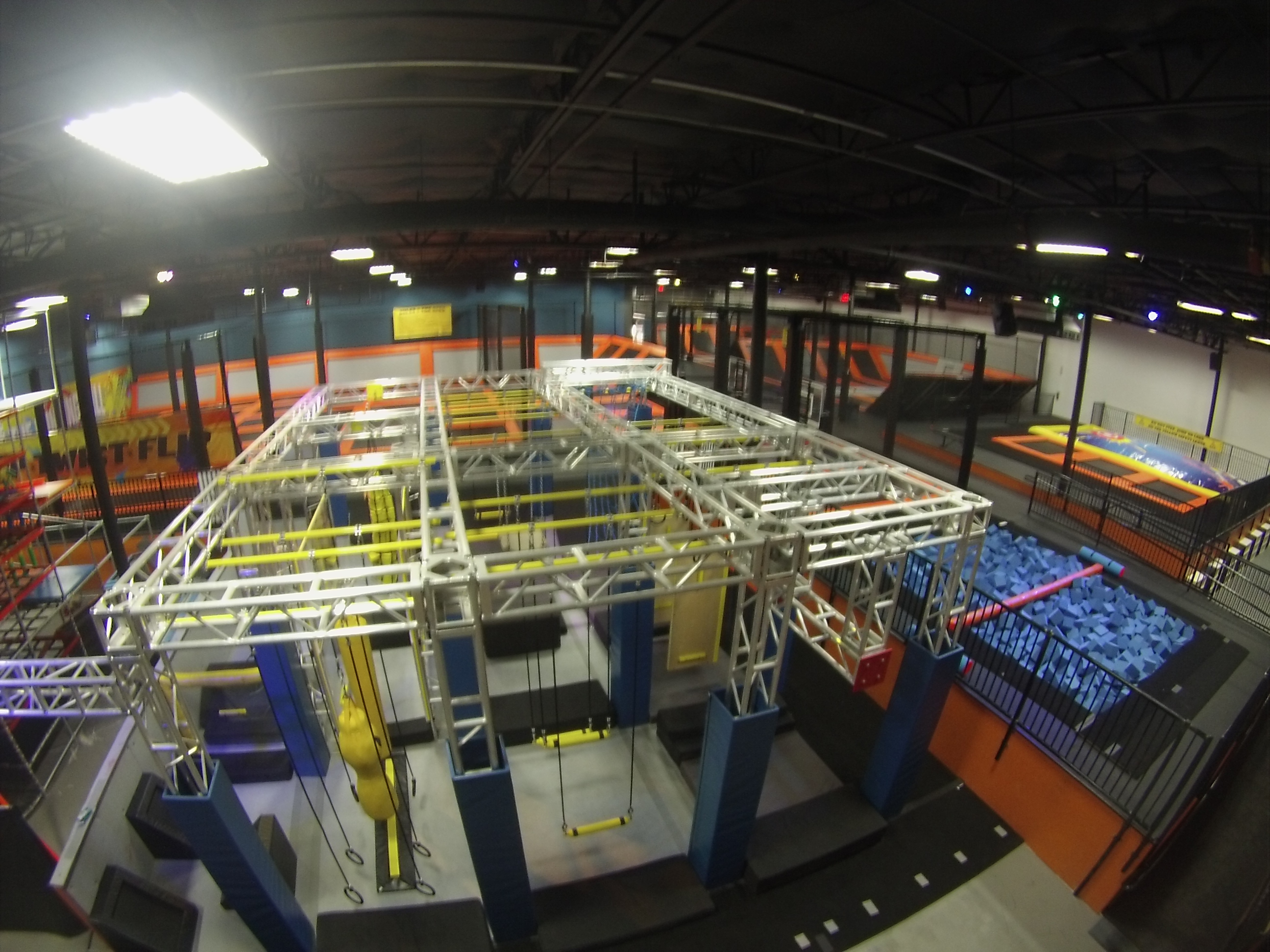 40 000 Square Foot Trampoline Amp Adventure Park Opening In