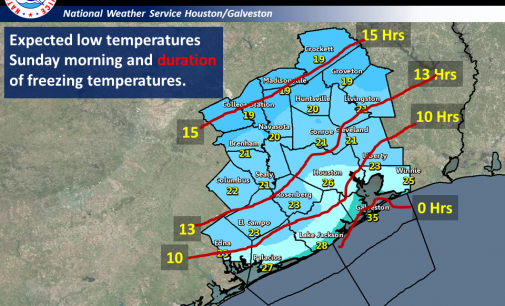 Wind Chill Drops Into Teens Over Weekend For Much Of Harris County
