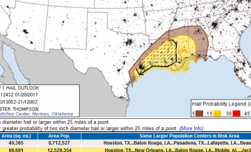 Severe Weather Threat Increases This Evening: Large Hail >1inch & Damaging Winds