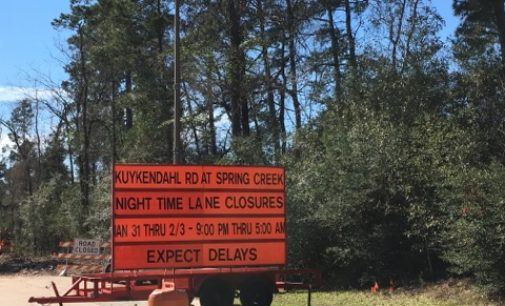 Kuykendahl At Spring Creek Bridge Construction To Require Temporary Lane Closure
