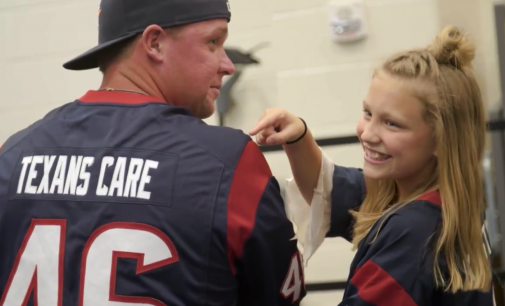 Houston Texans Player Supports Local Non-Profit Started By 10-Year-Old Spring Resident